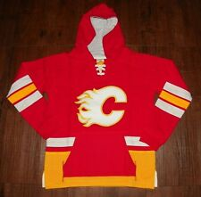 Calgary Flames Youth Laced Up Primary Logo CCM Hoodie Medium (10/12)