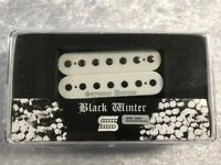 Seymour Duncan Black Winter 7 String Humbucker Neck Pickup In White Silver Logo
