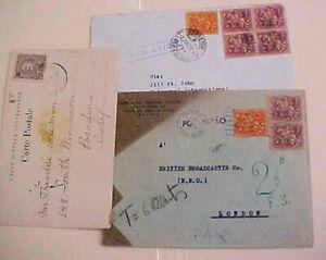 AZORES  1905/1958 PONTE DELGADO MOSLTY TO USA INCLUDE POSTAGE DUE HANDSTAMP
