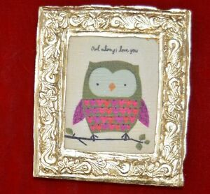 "Natural Life 'Owl Always Love You' framed print 4x5"""