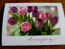 One New Sympathy Card with Pretty Pink and Purple Tulips from Current USA, Inc.