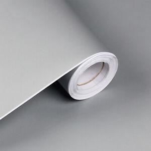 3m Grey Matte Self Adhesive Wallpaper Vinyl Kitchen Cupboard Door Covers Wrap