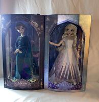 "Disney Limited Edition Frozen 2 Queen Anna & Elsa Dolls 17"" New"