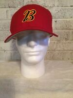Trucker Hat Baseball Red Cap Letter 'B'. Made In USA Size 7 3/8 retro