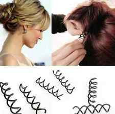 1 Set of 10pc Metal Spiral Spin Screw Hair Pin Clip Girls Womens Hair Accessory