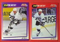 Wayne Gretzky 1991-92 Score American & Canadian Bilingual #100 2 Cards Lot