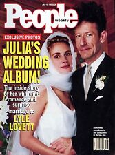 People Mag July 12, 1993 Julia Roberts whirlwind romance with Lyle Lovett