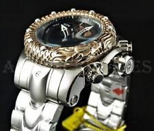 Invicta 52mm Venom Subaqua DRAGON SCALE Rose Gold BEZEL Chronograph Silver Watch