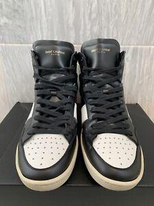 Saint Laurent Paris SL/10H High Top Sneakers Black