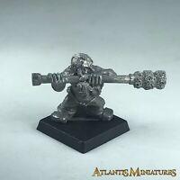 Metal Dwarf Cannon Siege Gun Swabber Crew - Warhammer Age of Sigmar X1002