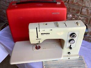 Bernina 830 Record Electronic Sewing Machine w Red Case and Full Accessory Kit