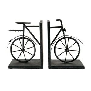 Elk Home A-Pair Bicycle Bookends, Arged Red, Rust - 51-3857