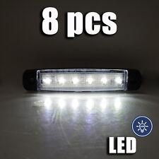 blanc LED feu de position 12V x 8 pièces lampe CAMION BUS VAN CARAVANE