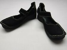 Yellow Box Womens Size 7.5 Mary Jane Style Shoes Black Suede