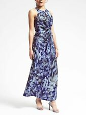 BANANA REPUBLIC PIECE & CO. SUN-DYED TWIST-FRONT SILK DRESS NWT $268 SZ 0