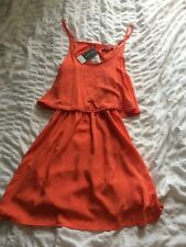 Women's Coral Backless Dress Brand New Size 8