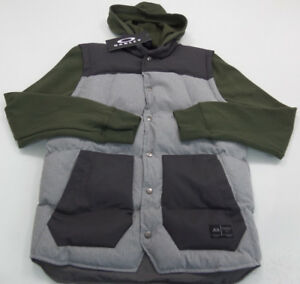 Oakley Jacket Mens Size Small Retail $125 Gray Green #TO18