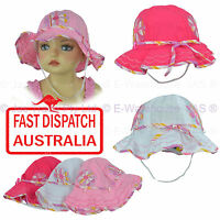 Girl Kids Toddler Baby Cotton Floral Flower Bell Bucket Sun Hat Size Adjustable