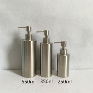 304 Stainless Steel Soap Shower Gel Bottle Bathroom Kitchen