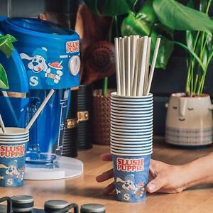 Slush Puppie Pack of 20 Paper Cups & Paper Straws