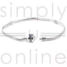 925 zilveren Snake bedel armband met Snap sluiting kralen vat Bracelets Bangle