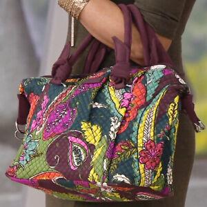 NEW WITH TAGS Vera Bradley Hadley Satchel Leafy Floral Shoulder Crossbody Bag