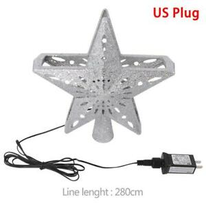 OurWarm Star Christmas Tree Topper LED Star Top Snowflake Projector XMAS Party