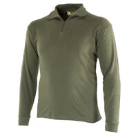Authentic Spanish Army Field Shirt OD Combat Tough Quarter Zip Front Long Sleeve