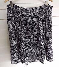 Jacqui E Women's Black Grey & White Skirt with Ruffles - Size 14