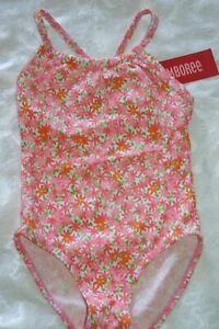 NEW Girls Size 5T Gymboree Swimsuit Floral 1-Piece Scalloped Top 2018 Line NWT