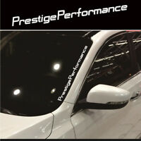 White JDM Prestige Performance Windshield Vinyl for Car Universal Sticker Decal