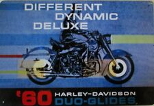 1960 Harley Davidson Duo-Glides Motorcycle Metal Sign
