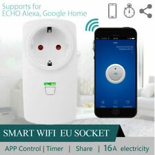 Wifi Smart 16A EU Plug Power Socket Outlet Timer APP For ECHO ALEXA GOOGLE HOME
