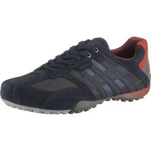 Geox Uomo Snake E Baskets Hommes Chaussures Basses U8207E à Lacets Bleu