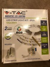 265V led strip light kit - IP20 SKU 2544 5050 White 5m 60 LEDwith remote