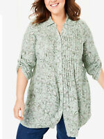 Big-Size Shirt Bluse Longshirt grün Women Within Gr. 56 58 60 62 64 66 68 70