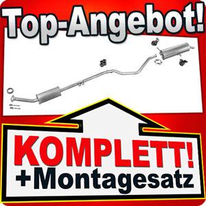 PEUGEOT 307 2.0 HDi 79 KW 2001-2005 Schrägheck Auspuff Abgasanlage A78