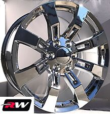 "20"" inch 20 x8.5"" Wheels for Chevy Avalanche Chrome Rims Denali CK375"