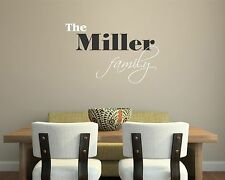 Family Name Wall Decal removable sticker personalized quote art decor mural