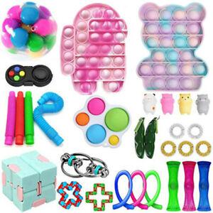 30* Pop It Fidget Sensory Toy Set Autismus SEN ADH Fidget Stressabbau Spielzeug