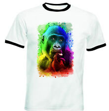 MONKEY 2 - NEW BLACK RINGER COTTON TSHIRT