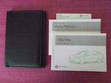 VAUXHALL VECTRA (2002 - 2005) OWNERS MANUAL - HANDBOOK INCLUDES GSi (YJL 1586)
