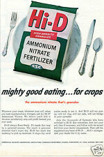 1961 Print Ad of Commercial Solvents Corp Hi-D Fertilizer good eating for crops