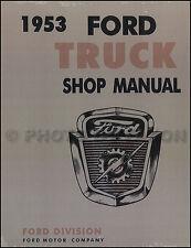 1953 Ford Pickup and Truck Repair Shop Manual F100 F250 F350 F500-f900 Service