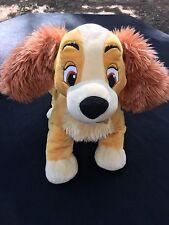 "Disney Store Lady and the Tramp Plush Medium 12""  Stuffed Dog Puppy"
