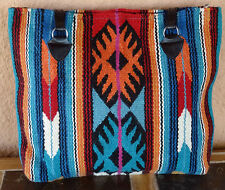 Wool Purse HIPURSE-NO Maya Modern Hand Woven Large Southwestern Laptop Bag Tote