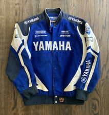 Yamaha Racing Cotton Twill Embroidered Jackets Royal Blue Men Size XL