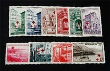nystamps French Monaco Stamp # B36 - B45 Mint OG NH $40