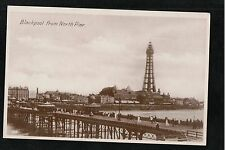 L@@K  Blackpool From North Pier 1930 RP Postcard ~ GOOD QUALITY CARD