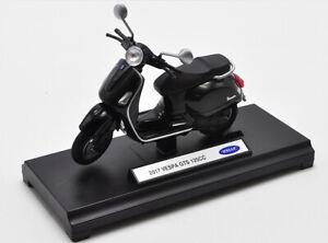1:18 Welly Vespa 2017 GTS 125CC MOTORCYCLE BIKE DIECAST MODEL NEW IN BOX Black